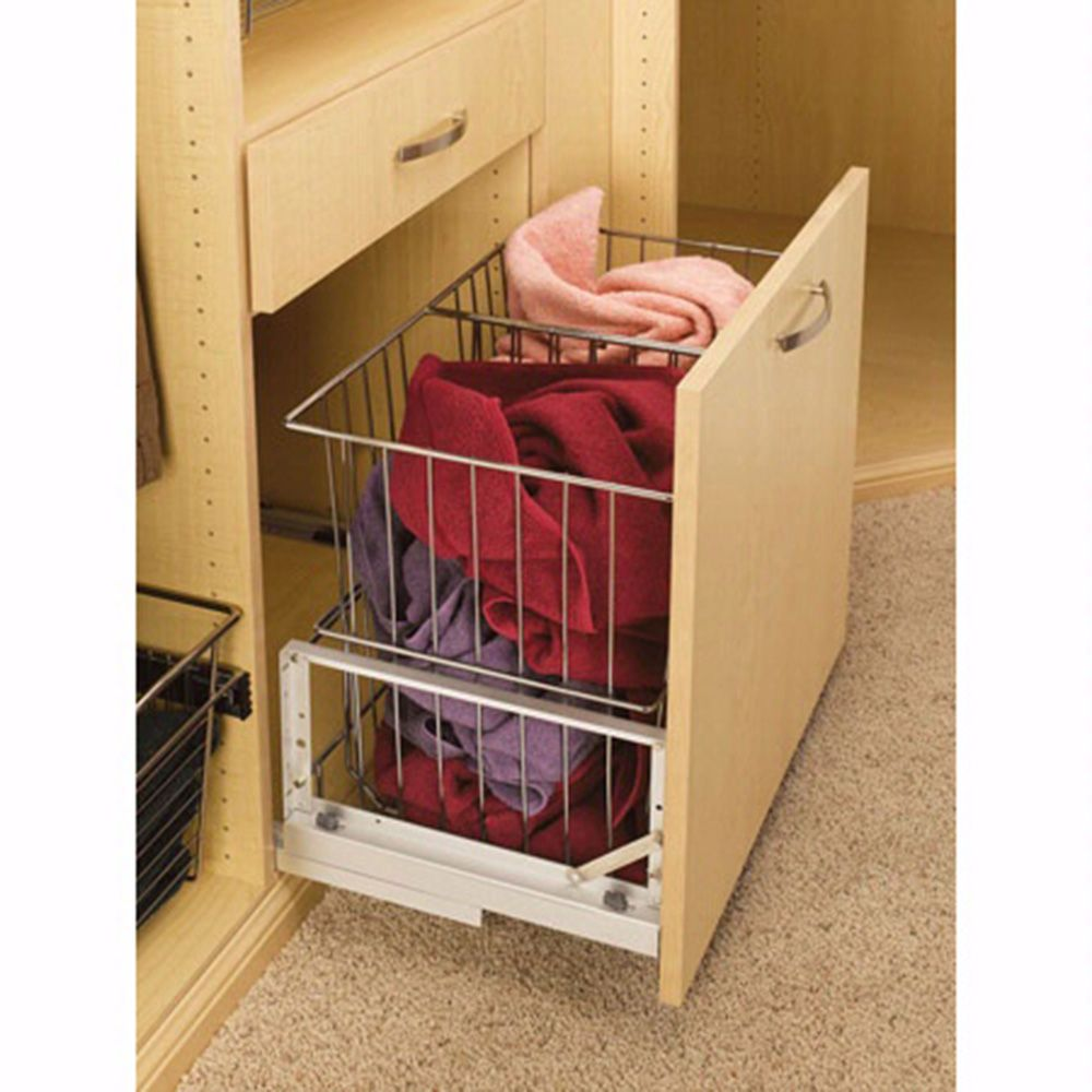 23 15 16 Quot Wide Double Wire Hamper With Soft Close Chrome