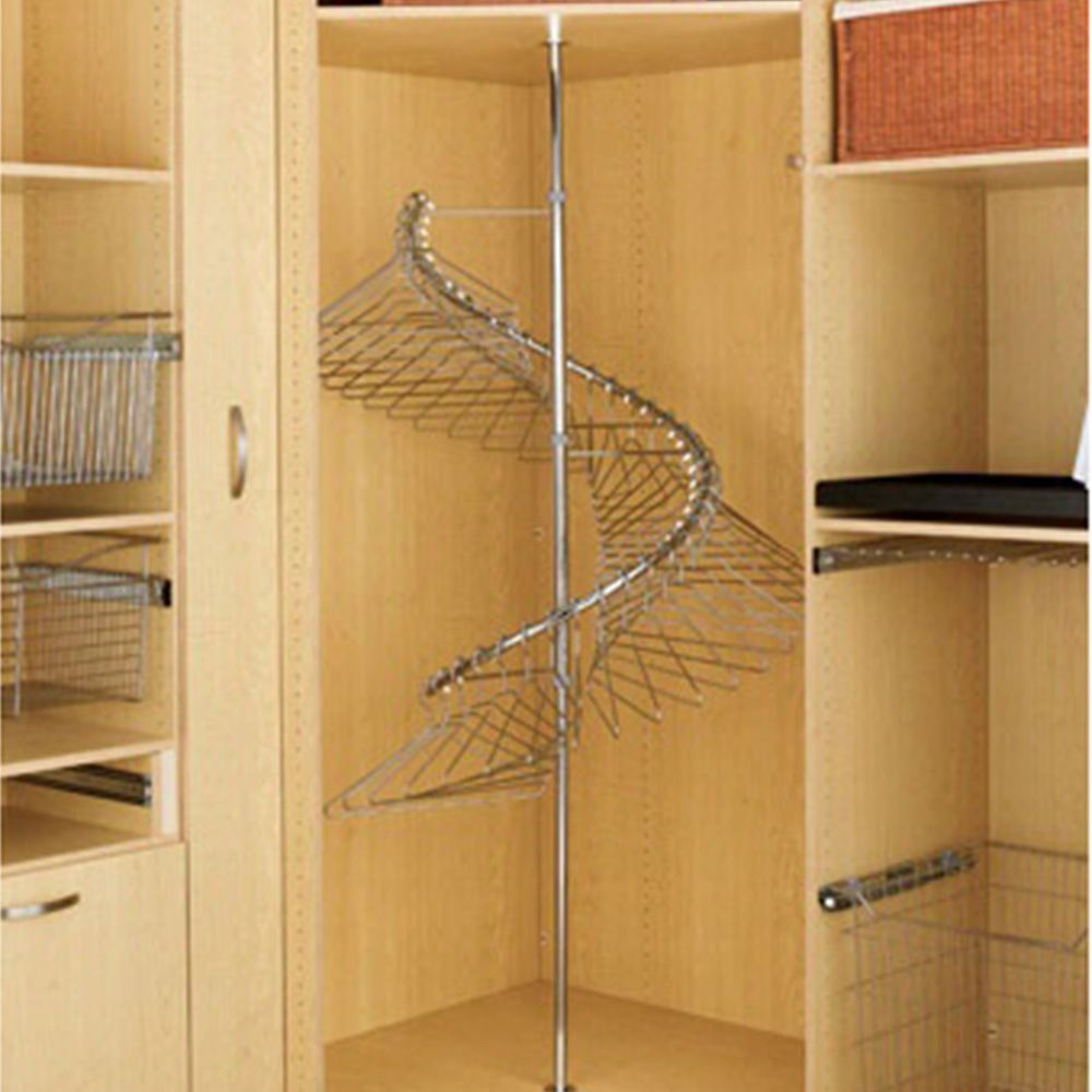 360 degree spiral clothes rack chrome wire shr 3684 rockler woodworking and hardware. Black Bedroom Furniture Sets. Home Design Ideas