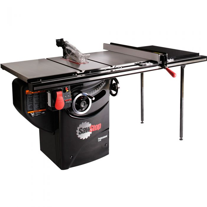 SawStop 3HP Professional Table Saw w/36'' Fence, Rails, and Extension Table