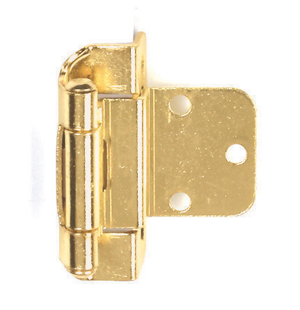 2-1/4 Self-Closing Exposed Partial Wrap Cabinet Hinge Polished Brass Pack of 2 DIY Materials Home, Furniture & DIY