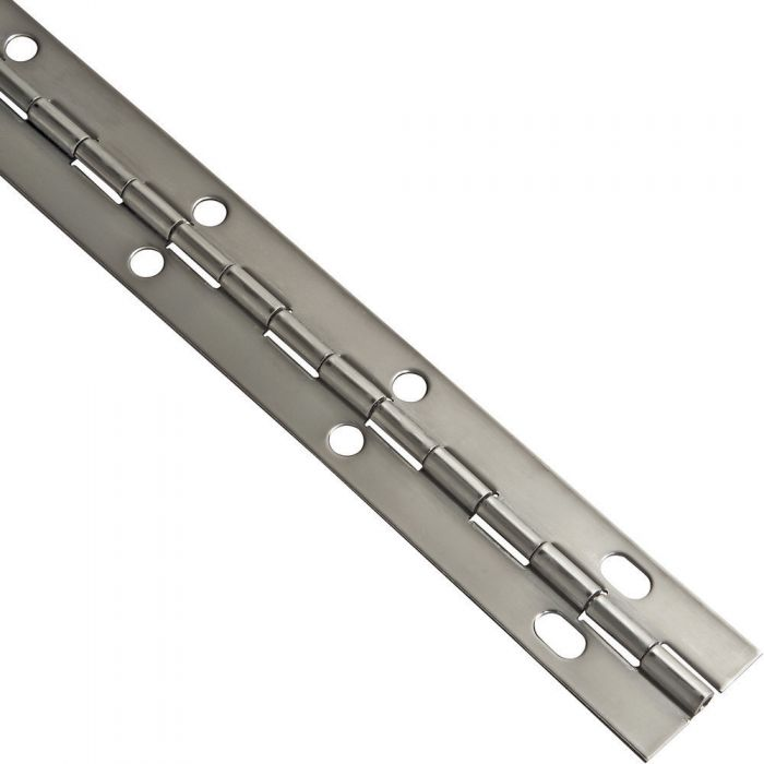 """A Pair 2 Aluminum Piano Hinge 1/"""" x 1/"""" x 12/"""" 20 Gauge Made in USA"""