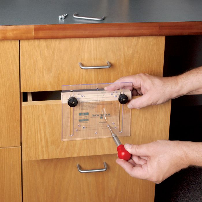 Rockler Drawer Pull Jig It 174 Template And Center Punch