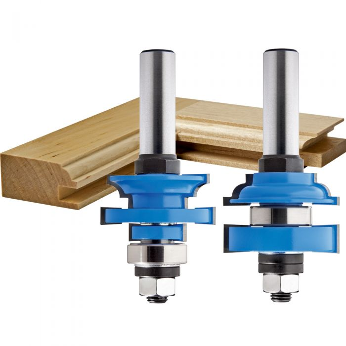 Rockler Bead In Stile And Rail Router Bit Set 1 2 Shank