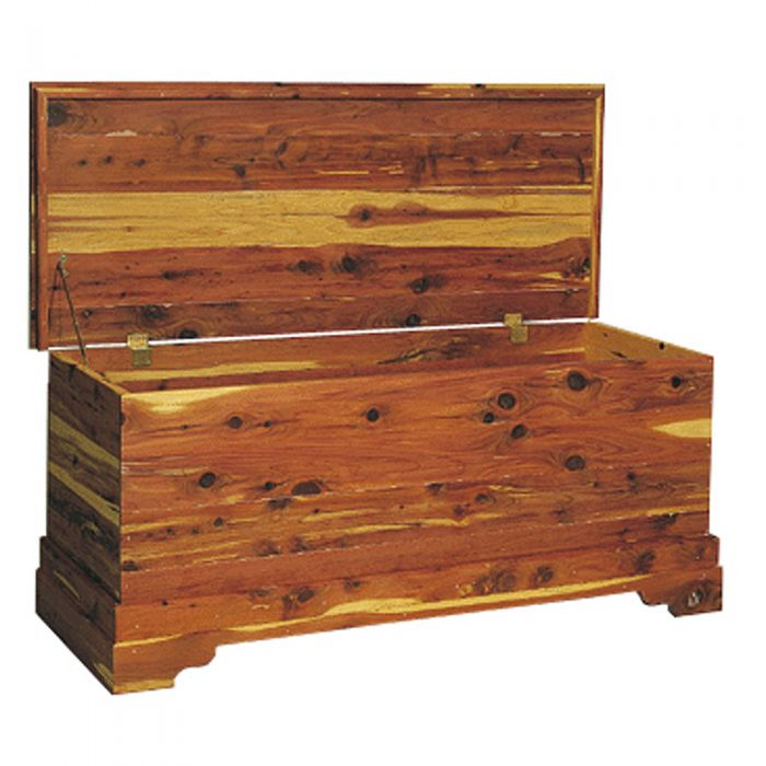 Geff House Wave Collection Jewelry Gift Storage Chest Cherry