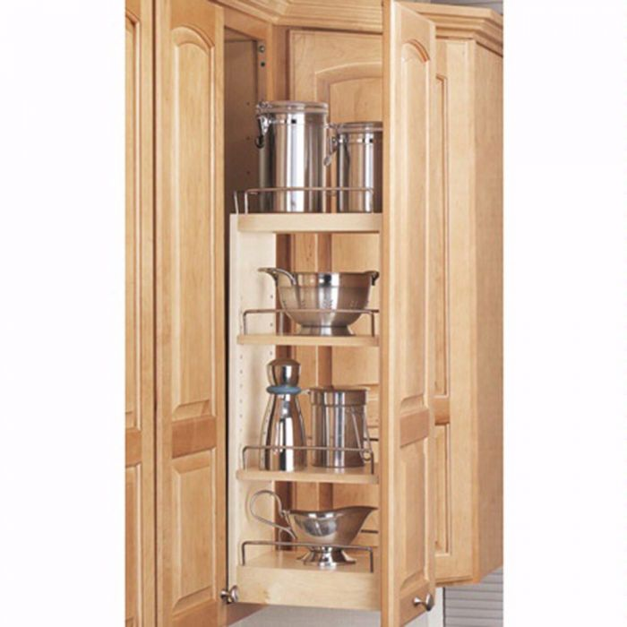 Wall Cabinet Wood Pullout Organizers