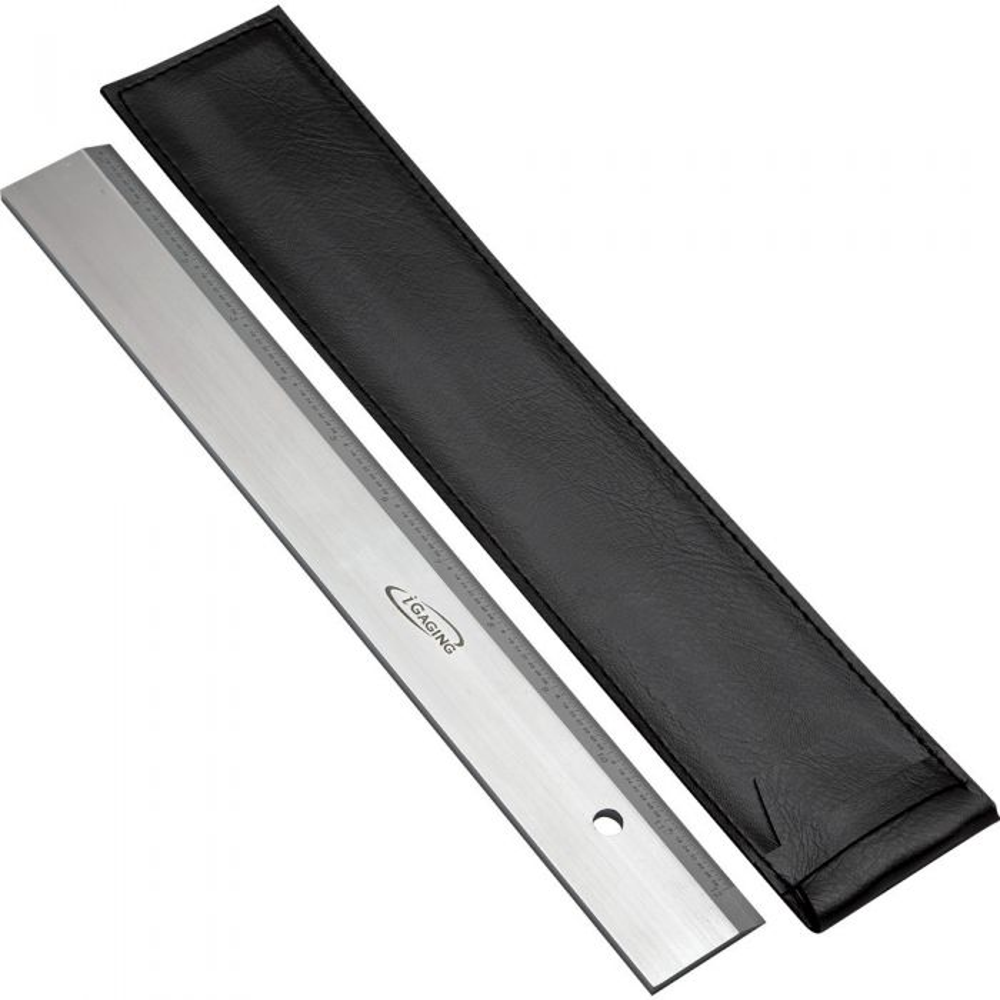"Igaging 36/"" straight edge beveled precision ruler hardened steel"