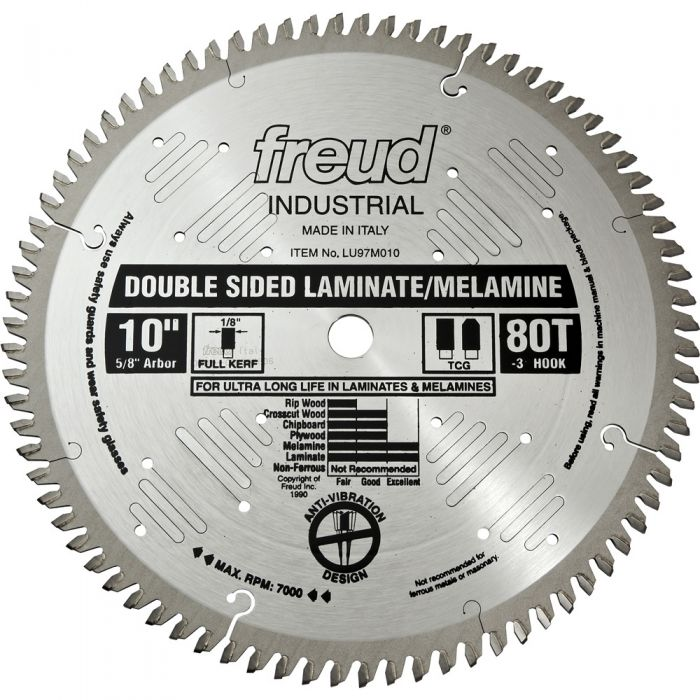 Freud 174 10 Quot X 80t Industrial Double Sided Laminate Melamine