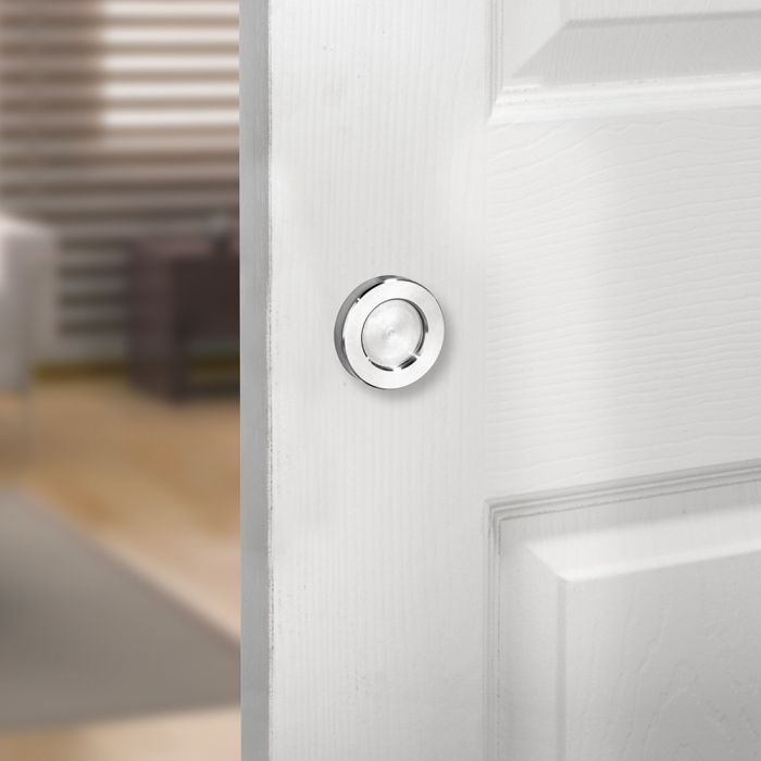 i semble rolling barn door knob, stainless steel