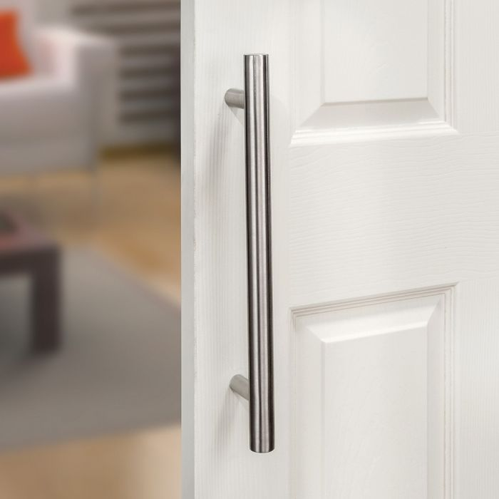 i semble rolling barn door handle, stainless steel