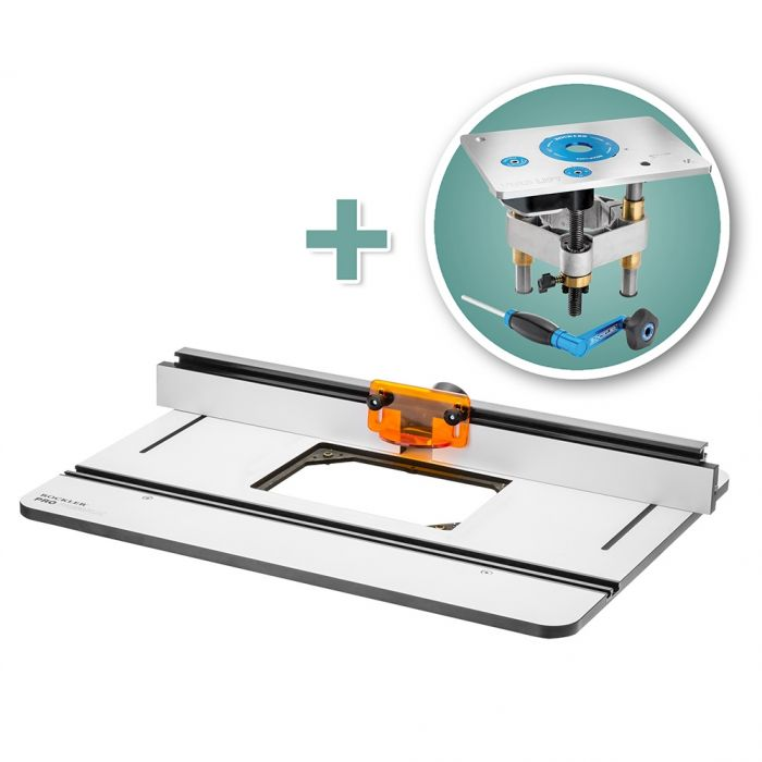 Rockler Phenolic Router Table Top Pro Fence Pro Lift Router Lift