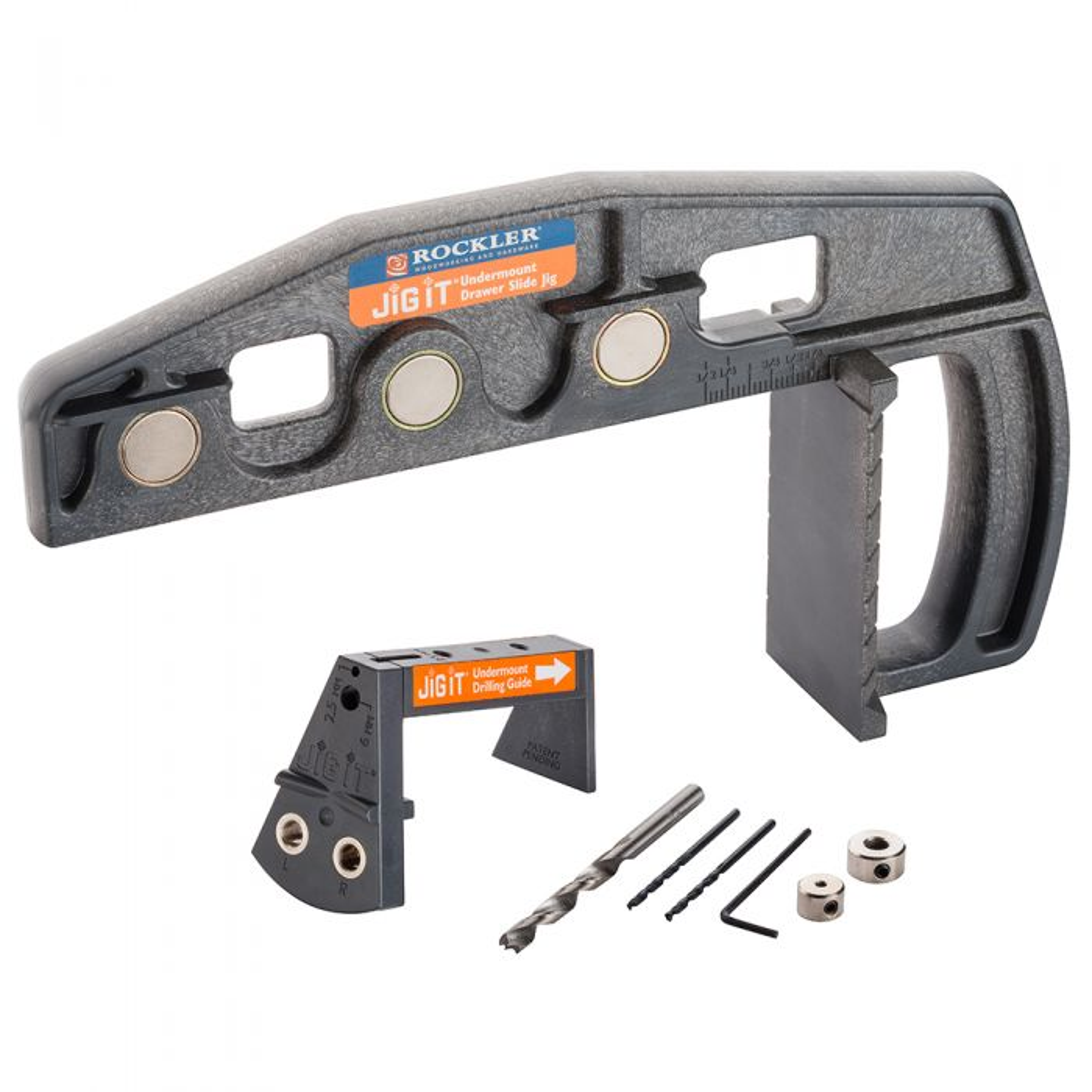 Rockler JIG IT® Undermount Drilling Guide with Undermount Drawer Slide Jig