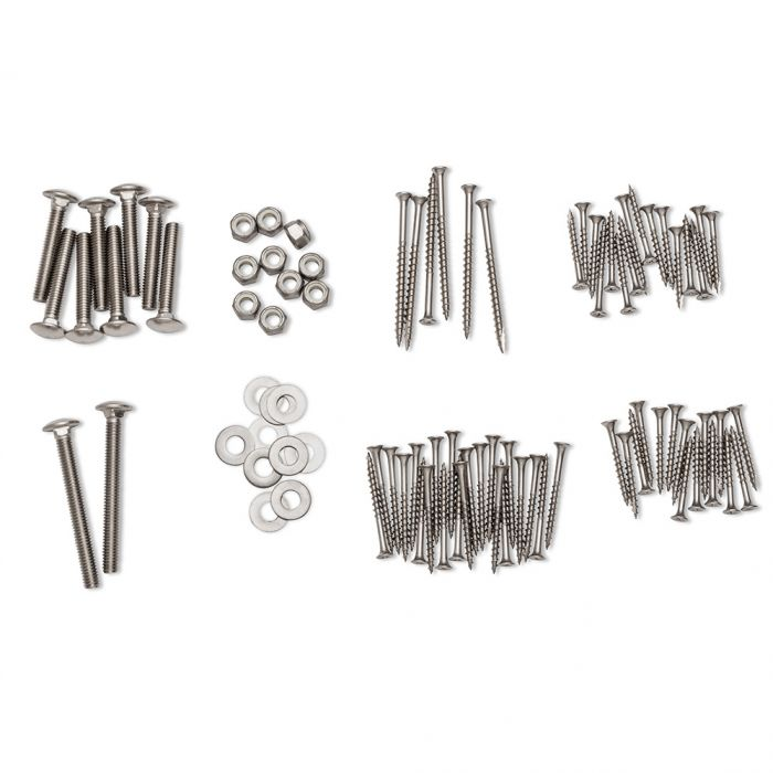 Stainless Steel Hardware Pack for Bar Height Adirondack Chair