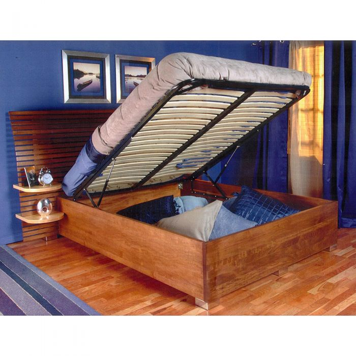 Queen Size Pu Leather Storage Bed Frame