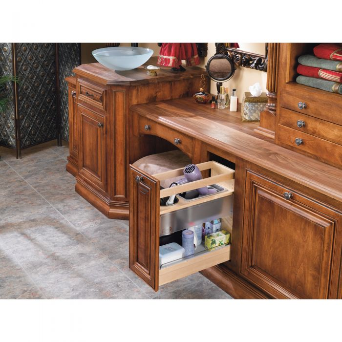 Rev A Shelf Cabinet Pullout Soft Close Grooming Organizer For Bathroom Vanity