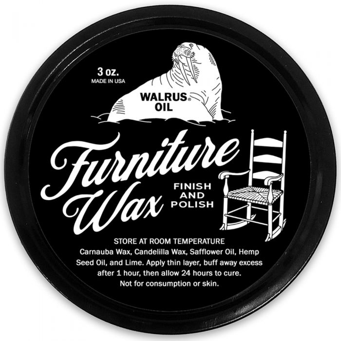 Walrus Oil Furniture Wax Finish And Polish 3 Oz