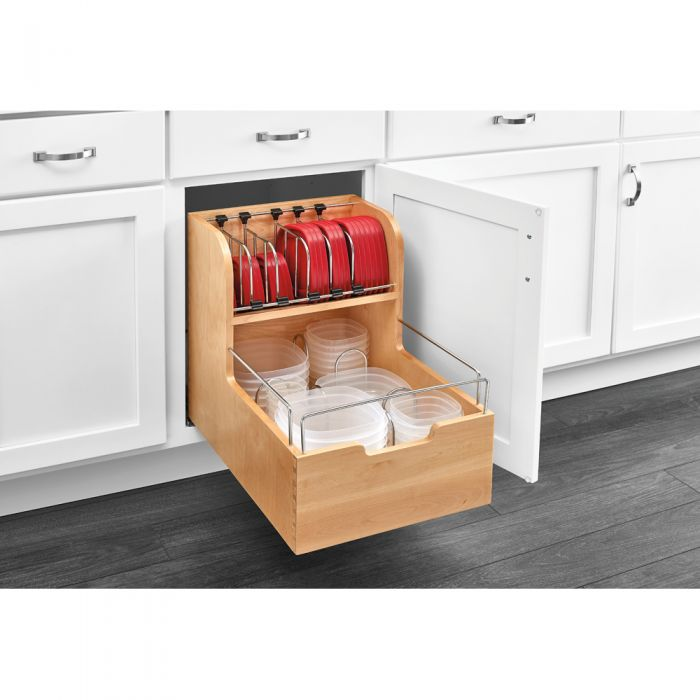 Rev A Shelf  Base Cabinet Pullout Food Storage Container Organizer    Soft Close