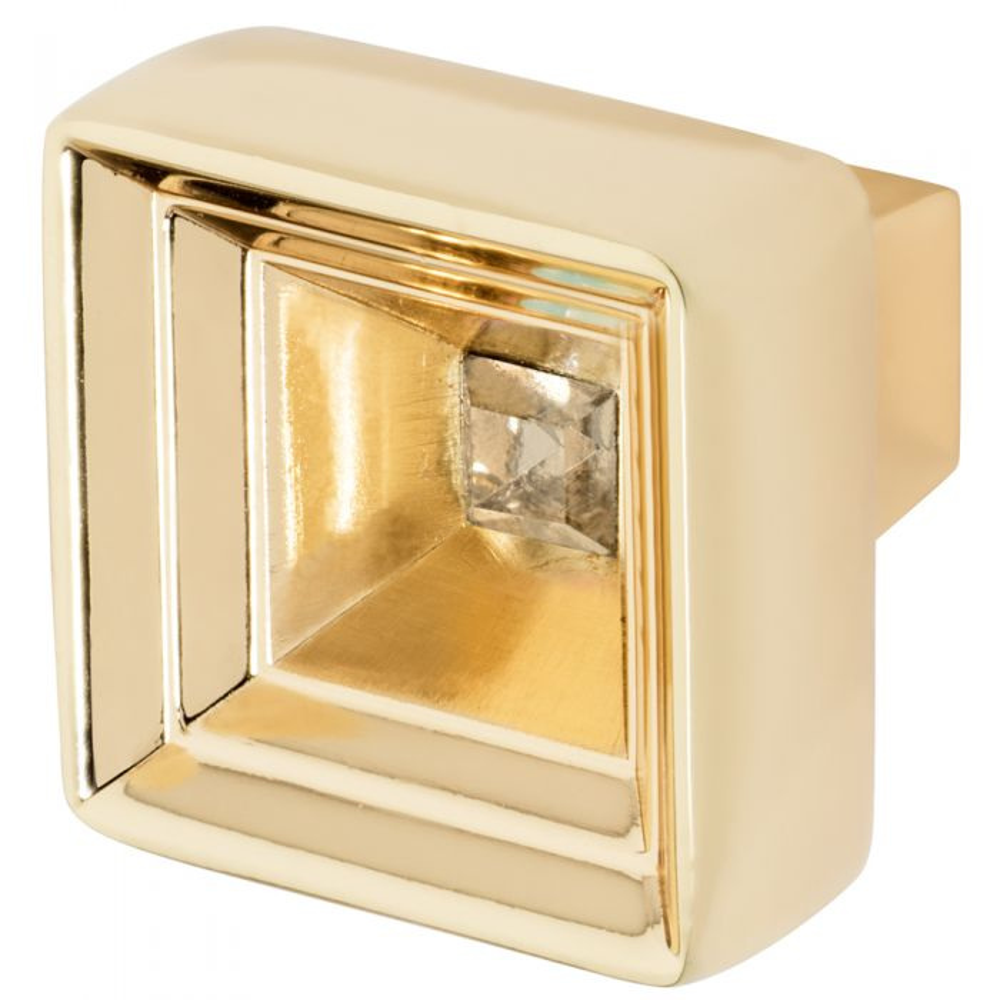Wisdom Stone Hidden Treasure Knob Polished Gold Finish