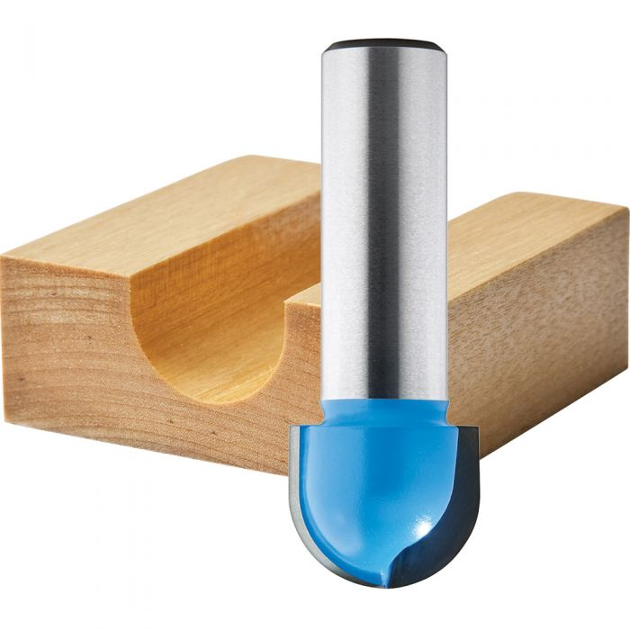 1//4 Inch Shank Cove Box Router Bit 1//4 5//16 3//8 1//2 5//8 3//4 7//8 1 Cutting Diameter Solid Carbide Double Flute Core Box Round Nose Woodworking Tool 8 Pcs