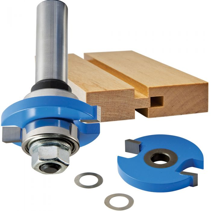 Rockler Tongue And Groove Router Bit 3 8 Dia X 1 4 H X 1 4 Shank