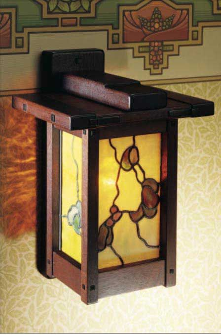 Arts Crafts Wall Lamp Able Plan