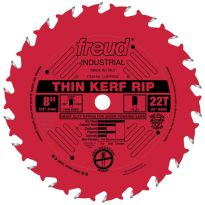 """Freud LU87R008 8"""" x 22T Industrial Thin Kerf Rip Blade (other sizes available)."""