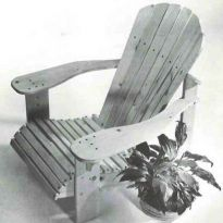 Woodworker's Journal Adirondack Lawn Chair Plan - Reprint