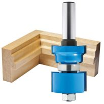 "Rockler Reversible Sash & Door Assembly Router Bit - 1-3/8"" Dia x 1-3/4"" H x 1/2"" Shank"