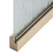 Groove-Type Plastic Panel Retainer - Wood-Colored
