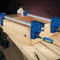 Large clamping surface keeps boxes square and won't mar the wood.