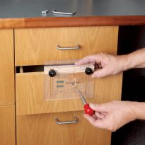 Rockler Drawer Pull JIG IT® Template and Center Punch