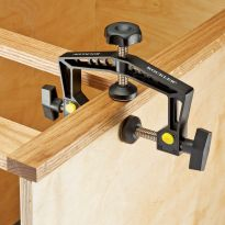 Clamp face frames in place to attach them to your cabinet