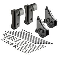 8' Rolling Library Ladder Hardware Kit, Satin Black