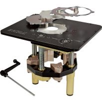 Complete system includes the Incra Master Lift II, 5 reducing rings, and the lift crank
