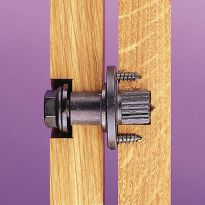 Features the strength of a hex head bolt with the pivoting ability of a roto hinge