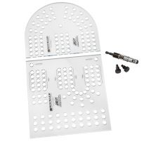 XL Cribbage Board Templates, 3-Player, Curved Track