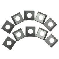 Carbide 2-Edge Insert Cutters for Rikon 20-600H, 25-130H, 25-131H, 10-Pack