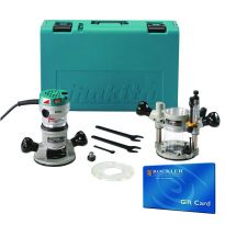 Makita RF1101KIT2 2-1/4 HP Variable-Speed Plunge Router Kit With FREE $50 Gift Card