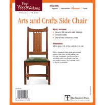 Arts and Crafts Side Chair, Printed Plan