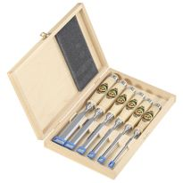 Two Cherries - Set Of Six Chisels In Wooden Box