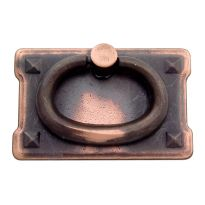 Solid Cast Brass Mission Style Ring Pull