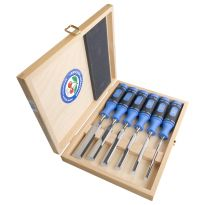 Two Cherries - Set Of Six Chisels With2-Component Handle In Wooden Box