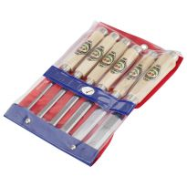 Two Cherries - Set Of Six Bevel Edge Chisels With Octagon