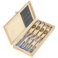 Two Cherries - Set Of Four Chisels In Wooden Box