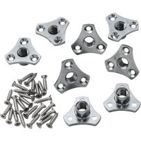 "Screw-On Tee Nuts 3/8"" x 16 TPI, 8 Pack"