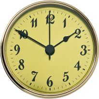 3'' Clock Face, Gold/Arabic Numerals