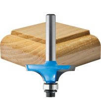 "Rockler Table Top Edge Router Bit - 1-3/16"" Dia x 3/8"" H x 1/4"" Shank"