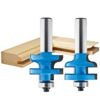 "Rockler Traditional Stile and Rail Router Bit - 1-3/8"" Dia x 1"" H x 1/2"" Shank"
