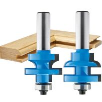 "Rockler Round Rail and Stile Router Bit - 1-5/8"" Dia x 1"" H x 1/2"" Shank"