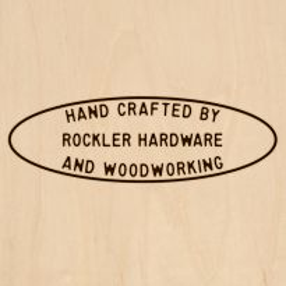 Custom Branding Iron with 3-Line Oval Design - Large Head