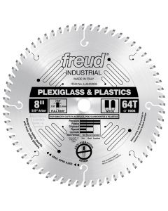 "Freud LU94M008 8"" x 64T Industrial Plastic Blade (other sizes available)."